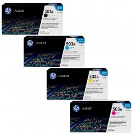 ~Brand New Original HP 3800 Laser Toner Cartridge Set Black Cyan Yellow Magenta