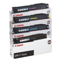 ~Brand New Original CANON GPR-11 Laser Toner Cartridge Set Black Cyan Yellow Magenta