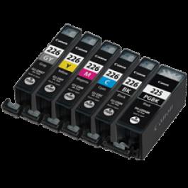 CANON PGI-225 / CLI-226 INK / INKJET Cartridge Set Black x2 Cyan Yellow Magenta Gray
