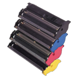Konica Minolta 2200 Laser Toner Cartridge Set Black Cyan Yellow Magenta