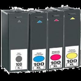 LEXMARK 100XL High Yield INK / INKJET Cartridge Set Black Cyan Yellow Magenta