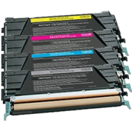 LEXMARK / IBM C734 Laser Toner Cartridge Set Black Cyan Yellow Magenta