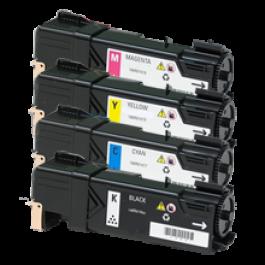 Xerox 6140 Laser Toner Cartridge Set Black Cyan Yellow Magenta