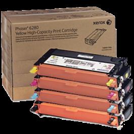 ~Brand New Original Xerox Phaser 6280 High Yield Laser Toner Cartridge Set Black Cyan Yellow Magenta