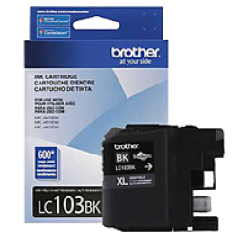Brand New Original BROTHER LC103BK INK / INKJET Cartridge Black High Yield
