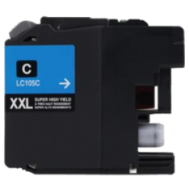 Brand New Compatible BROTHER LC105C (XXL) INK / INKJET Cartridge Super High Yield Cyan