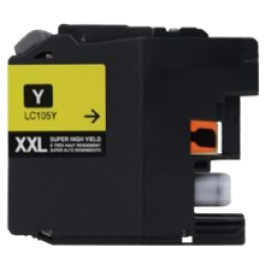 Brand New Compatible BROTHER LC105Y (XXL) INK / INKJET Cartridge Super High Yield Yellow