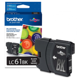 Brand New Original BROTHER LC61BK INK / INKJET Cartridge Black