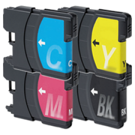 Brother LC65 Ink Cartridge Set Black Cyan Yellow Magenta