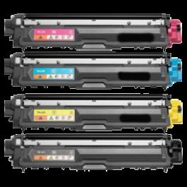 BROTHER TN-225 Laser Toner Cartridge Set High Yield Black Cyan Yellow Magenta