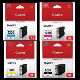 ~Brand New Original CANON PGI-1200XL INK / INKJET Cartridge Set High Yield Black Yellow Magenta Cyan