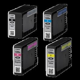 CANON PGI-1200XL INK / INKJET Cartridge Set High Yield Black Yellow Magenta Cyan