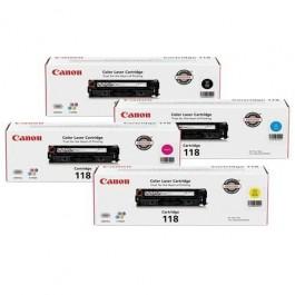 Brand New Original CANON CRG-118 Laser Toner Cartridge Set Black Cyan Magenta Yellow