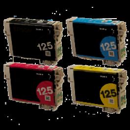 EPSON T125 INK / INKJET Cartridge Set Black Cyan Magenta Yellow