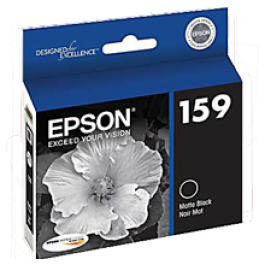 Brand New Original EPSON T159820 INK / INKJET Cartridge High Yield Ultra Chrome High Gloss Matte Black