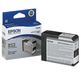 ~Brand New Original EPSON T580800 INK / INKJET Cartridge Matte Black