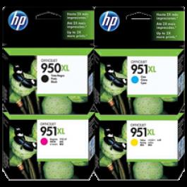 ~Brand New Original HP 950 / 951 XL INK/INKJET Cartridge Set Black Cyan Yellow Magenta