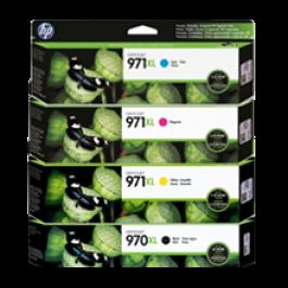 ~Brand New Original HP 970XL / 971XL INK/INKJET Cartridge Set Black Cyan Magenta Yellow High Yield