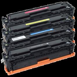 HP CP1215 (HP 125A) Laser Toner Cartridge Set Black Cyan Yellow Magenta