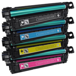HP CP3525 Laser Toner Cartridge Set Black Cyan Yellow Magenta