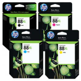 ~Brand New Original HP 88XL INK / INKJET Cartridge Set Black Cyan Yellow Magenta High Yield