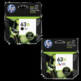 ~Brand New Original HP F6U63AN / F6U64AN (HP 63XL) High Yield INK / INKJET Cartridge Combo Pack Black Tri-Color