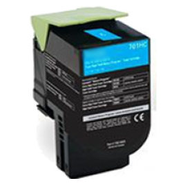 LEXMARK 70C1HC0 High Yield Laser Toner Cartridge Cyan