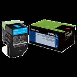 ~Brand New Original Lexmark 80C1HC0 Laser Toner Cartridge Cyan High Yield