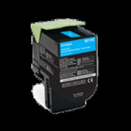 Lexmark 80C1HC0 Laser Toner Cartridge Cyan High Yield