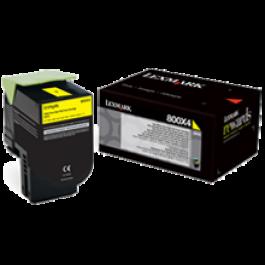 ~Brand New Original Lexmark 80C1HY0 Laser Toner Cartridge Yellow High Yield