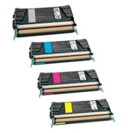 LEXMARK C736 Laser Toner Cartridge Set Black Cyan Magenta Yellow