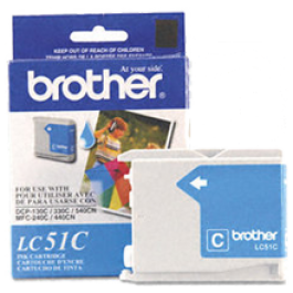 Brand New Original BROTHER LC51C INK / INKJET Cartridge Cyan