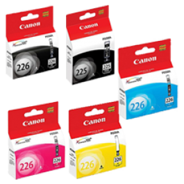 ~Brand New Original CANON PGI-225 / CLI-226 INK / INKJET Cartridge Set Black x2 Cyan Yellow Magenta
