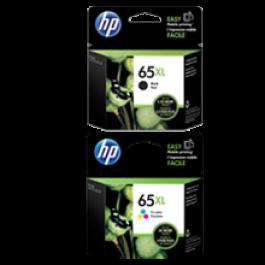 Brand New OEM Original HP OEM-N9K03AN / N9K04AN (#65XL) High Yield INK / INKJET Cartridge Combo Pack Black Tri-Color