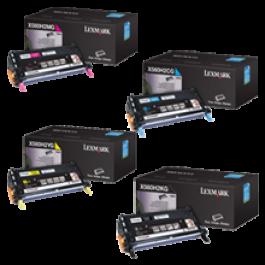 Brand New Original LEXMARK / IBM X560N High Yield Laser Toner Cartridge Set Black Cyan Yellow Magenta