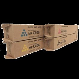 Brand New Original OEM-RICOH MPC-306 Laser Toner Cartridge Set Black Cyan Magenta Yellow