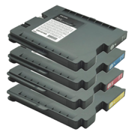 RICOH GX2500 / GX3000 INK / INKJET Cartridge Set Black Cyan Yellow Magenta