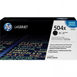 ~Brand New Original HP CE250X (504X) High Yield Laser Toner Cartridge Black