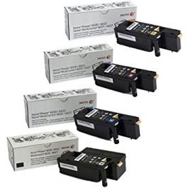 ~Brand New Original OEM XEROX 6022 Laser Toner Cartridge Set Black Cyan Magenta Yellow