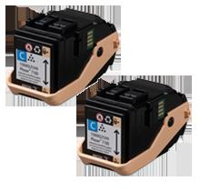XEROX 106R02602 Laser Toner Cartridge Cyan Dual Pack