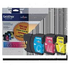 ~Brand New Original BROTHER LC613PKS INK / INKJET Cartridge 3 Pack Color Set Cyan Yellow Magenta