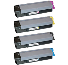 OKIDATA CX2032 (Type C8) Laser Toner Cartridge Set Black Cyan Yellow Magenta