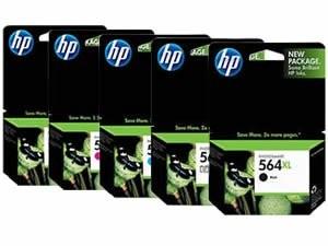 Brand New Original HP 564XL INK / INKJET Cartridge Set Black Photo Black Cyan Yellow Magenta