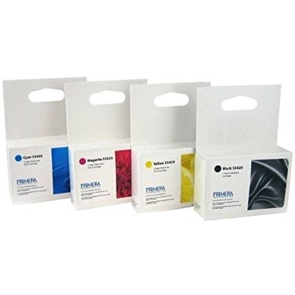 ~Brand New Original PRIMERA 53428 INK / INKJET Cartridge Set Black Cyan Magenta Yellow