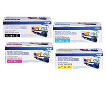 ~Brand New Original Brother TN315 Laser Toner Cartridge High Yield Set Black Cyan Magenta Yellow
