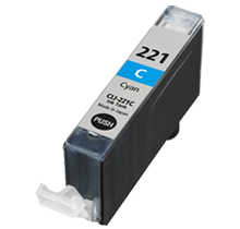 CANON CLI-221C INK / INKJET Cartridge Cyan (With Chip)
