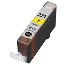 CANON CLI-221Y INK / INKJET Cartridge Yellow (With Chip)