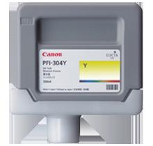 Brand New Original CANON PFI-304Y INK / INKJET Cartridges Yellow