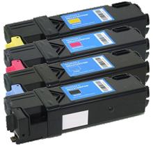 DELL 2130cn Laser Toner Cartridge Set Black Cyan Yellow Magenta High Yield