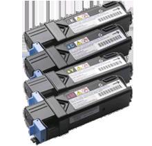 DELL 2150CN / 2155CN Laser Toner Cartridge Set Black Cyan Yellow Magenta